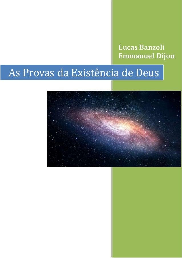 Lucas Banzoli Emmanuel Dijon As Provas da Existência de Deus
