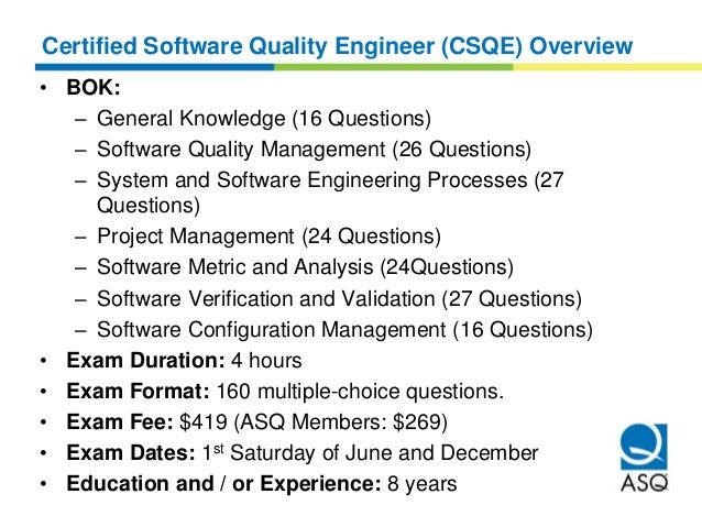 Quality Engineer Certification CQE