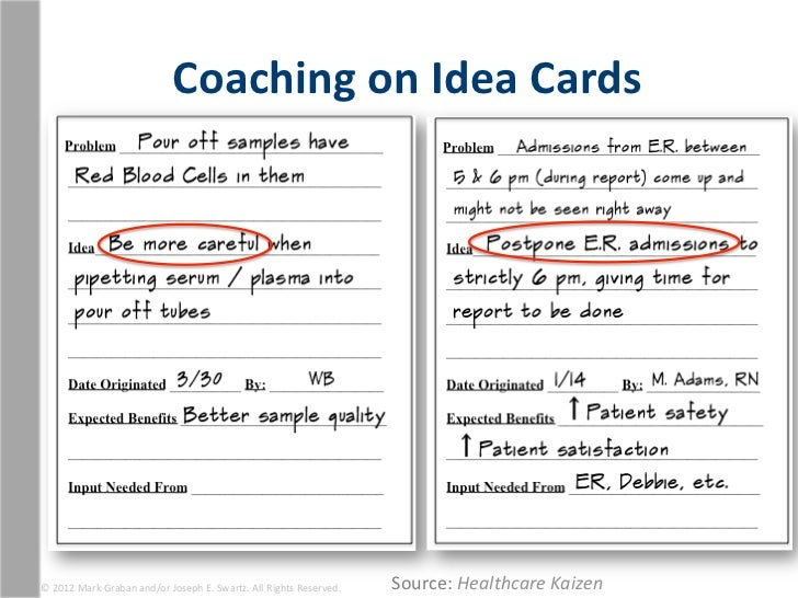 Coaching On Idea Cards