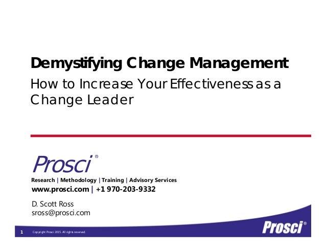 prosci change management certification demystifying program training slideshare methodology copyright