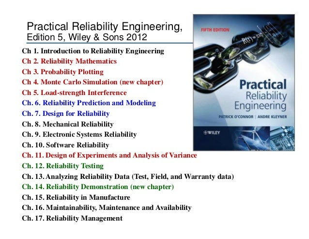 essentials for reliability practitioners rh slideshare net Engineering Design practical reliability engineering 5th edition solutions manual pdf