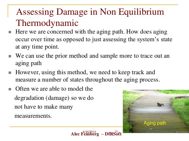 Alec Feinberg – DfRSoft Assessing Damage in Non Equilibrium Thermodynamic  Here we are concerned with the aging path. How...