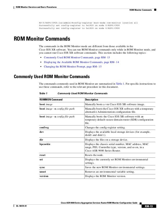 Asr 9k rommon config