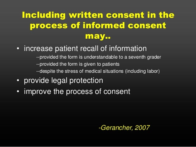 Gerancher: Informed Consent, Dnr, And Emr Issues In Anesthesia