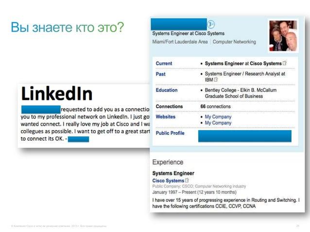 © Компания Cisco и (или) ее дочерние компании, 2013 г. Все права защищены. 25
