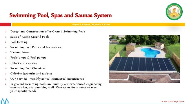 Asrdeep solar products for Swimming pool design xls