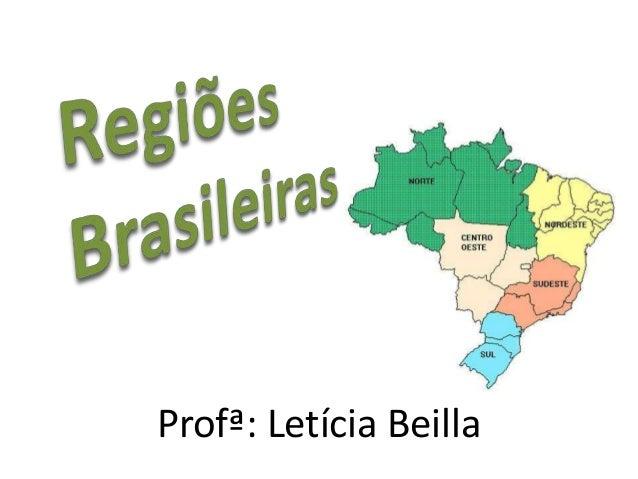 Profª: Letícia Beilla