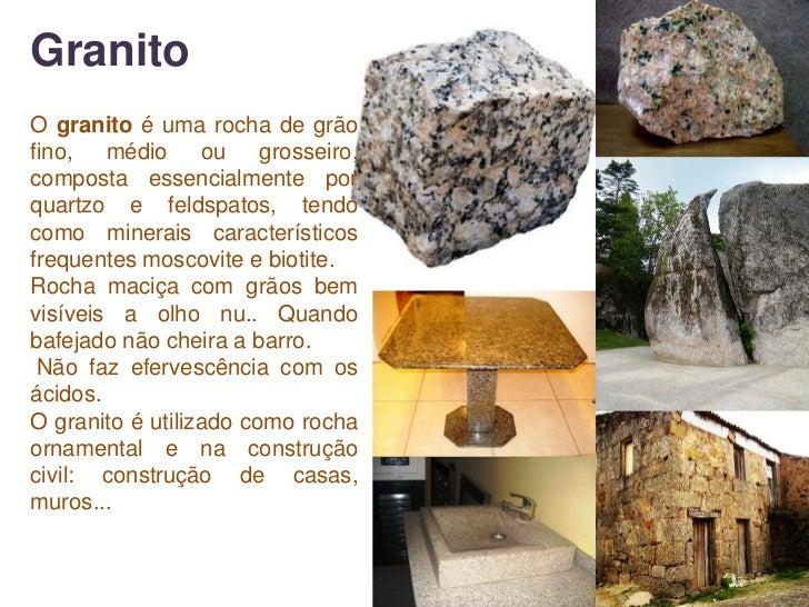 As rochas for Granito caracteristicas