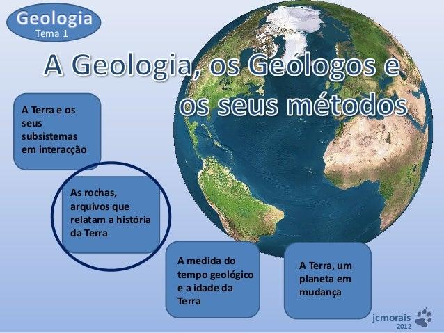 Tema 1  A Terra e os seus subsistemas em interacção  As rochas, arquivos que relatam a história da Terra A medida do tempo...