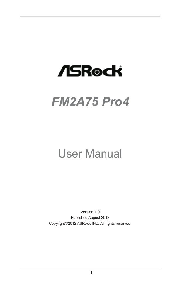 Download Driver: Asrock FM2A75 Pro4-M 3TB+
