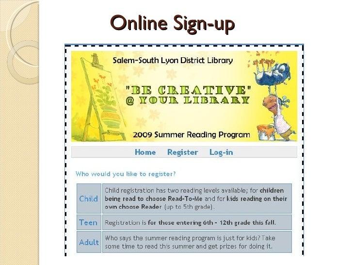 Online Sign-up