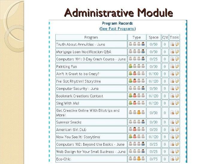 Administrative Module