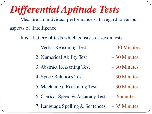 assessment of learning rh slideshare net Junior Aptitude Test Manual Mechanical Aptitude Test
