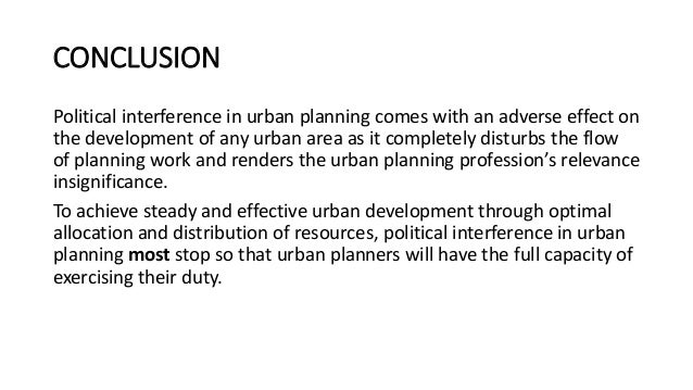 urban planning and politics pdf
