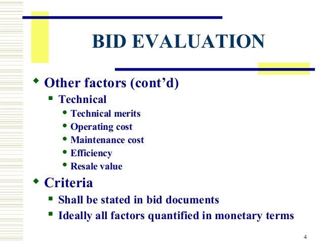 Bid Evaluation