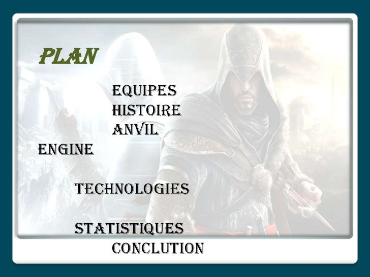Plan         Equipes         Histoire         AnvilEngine   Technologies   Statistiques       Conclution