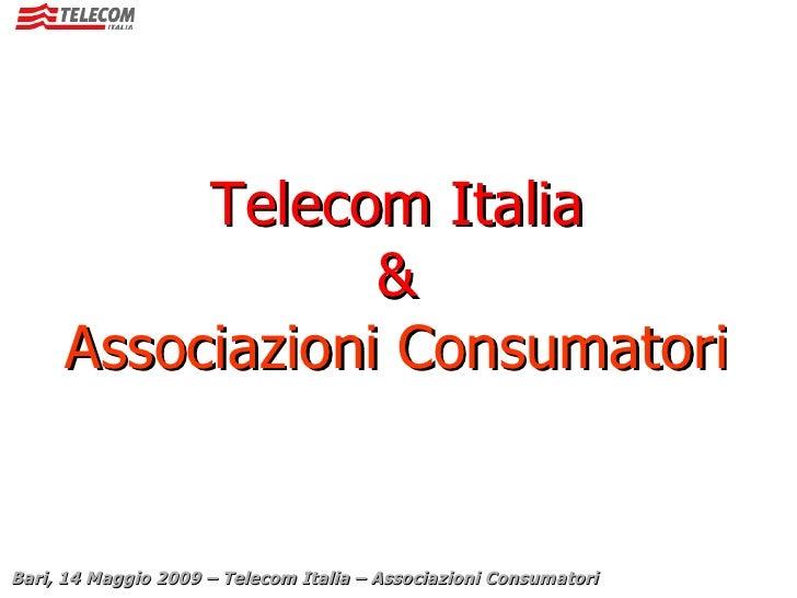 Telecom Italia & Associazioni Consumatori