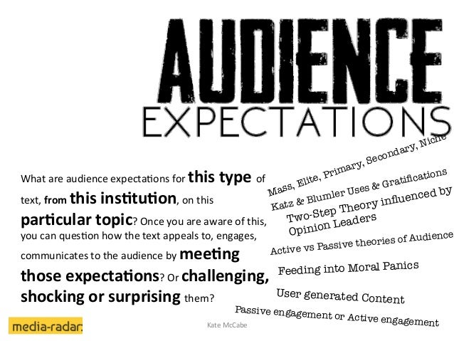 What  are  audience  expecta2ons  for  this  type  of   text,  from  this  ins<tu<on,  on  this...