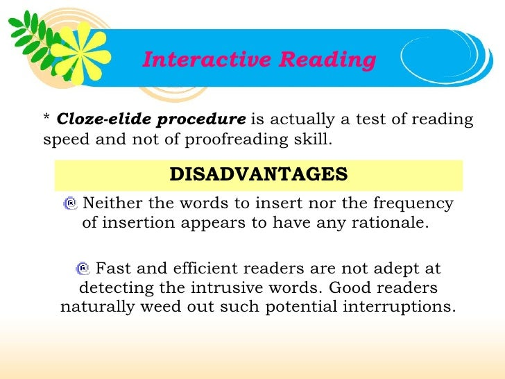 disadvantages of reading