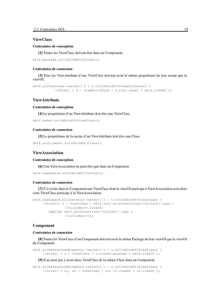 Chapitre 3                                    Réalisation du Profil UML    Comme il a été présenté dans le premier chapitre...