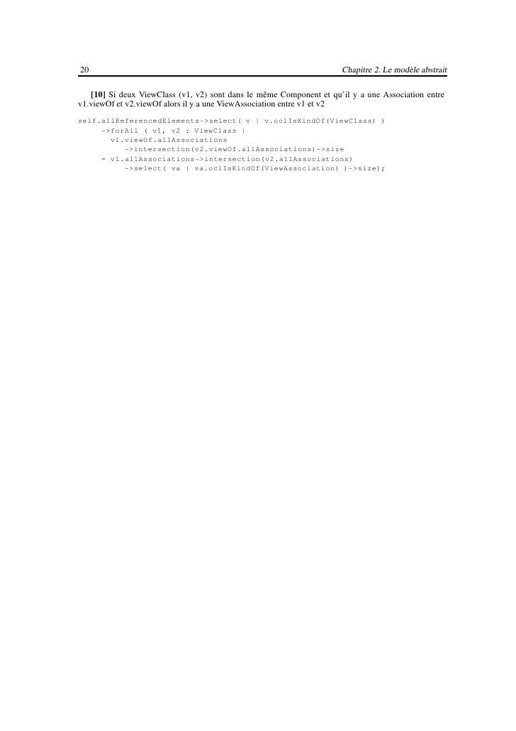 22                                                               Chapitre 3. Réalisation du Profil UML     Stéréotype      ...