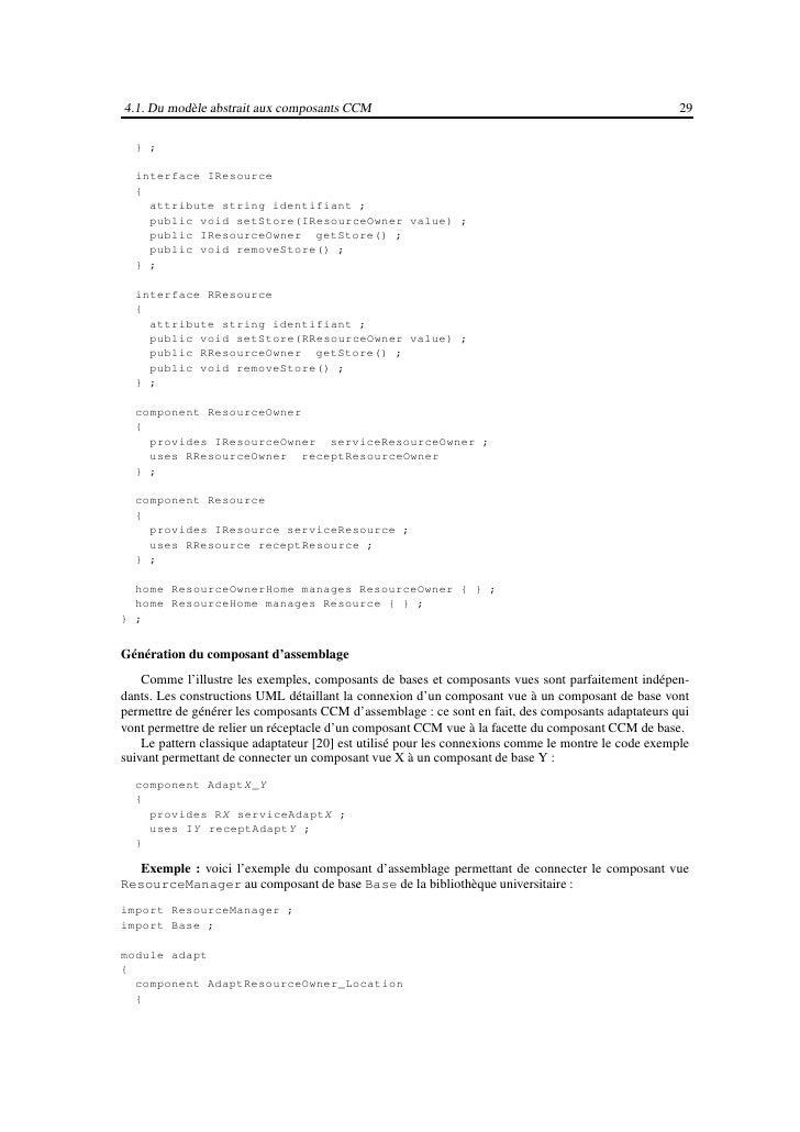 4.2. Du modèle abstrait aux composants EJB                                                               31utilise les inf...