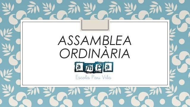 ASSAMBLEA ORDINÀRIA