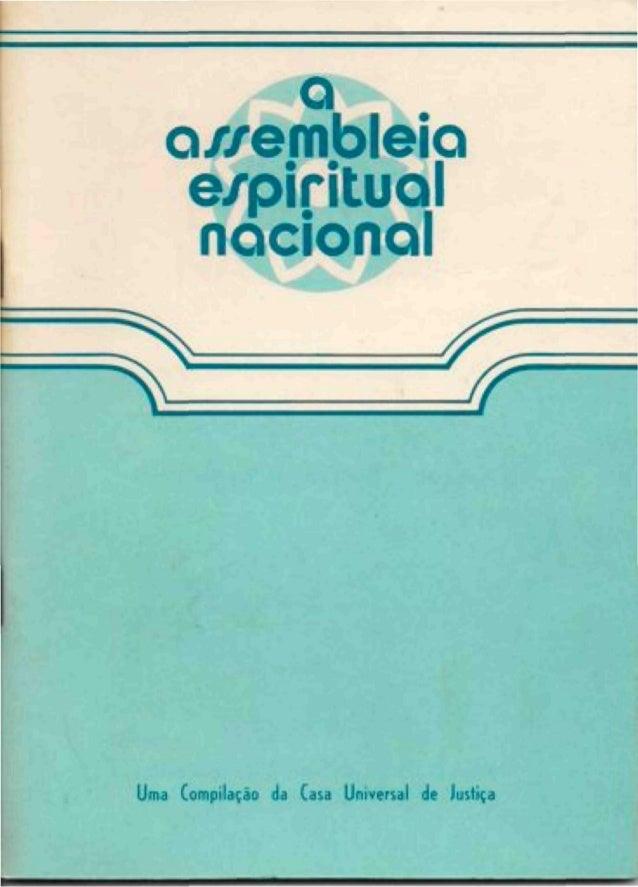 a o/zembleio e/pirituol nacional ^  ^  ^  Uma Compilação da Casa Universal de Justiça