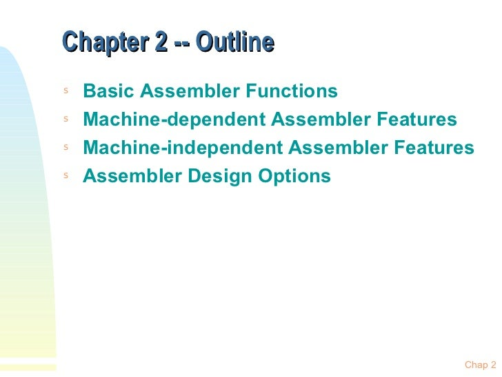 Assembler Design Options In System Software