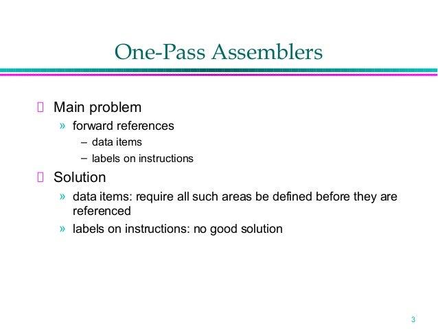 Assembler Design Option