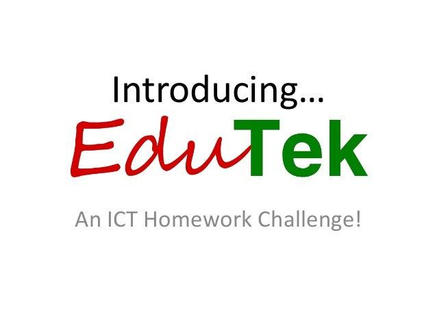 Introducing… An ICT Homework Challenge!