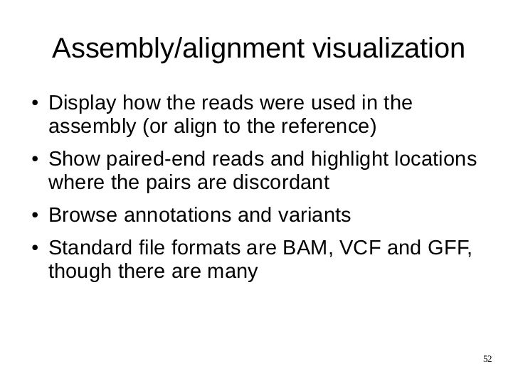 Sequencing Alignment And Assembly
