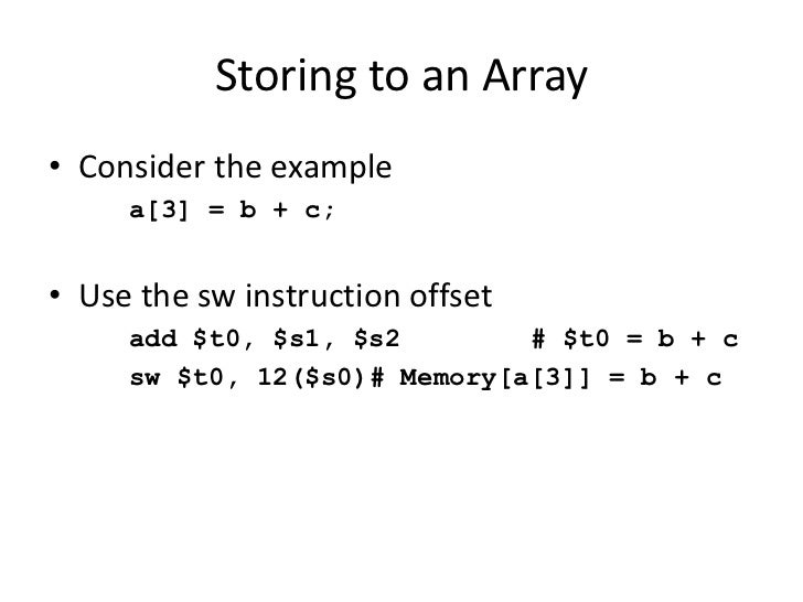 shift instruction in assembly language