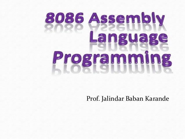 Prof. Jalindar Baban Karande
