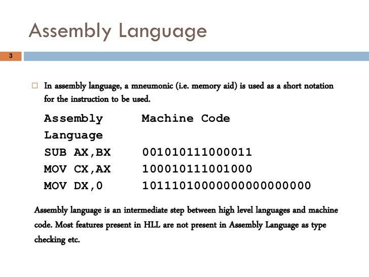 Assembly language 8086 intermediate Slide 3