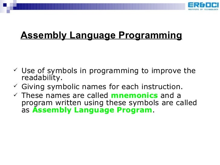 Assembly Language Programmingunit 4