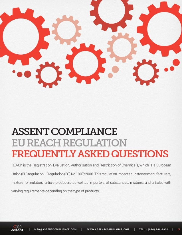 REACH Regulation - Frequently Asked Questions