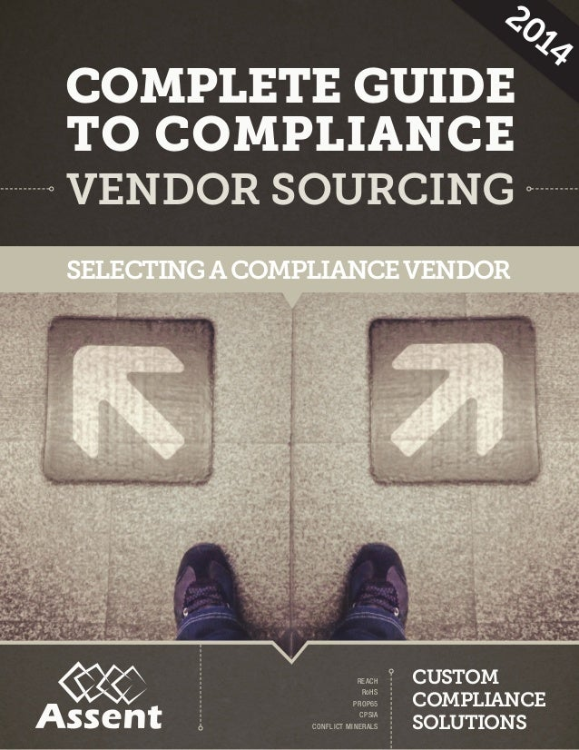VENDOR SOURCING COMPLETE GUIDE TO COMPLIANCE SELECTING