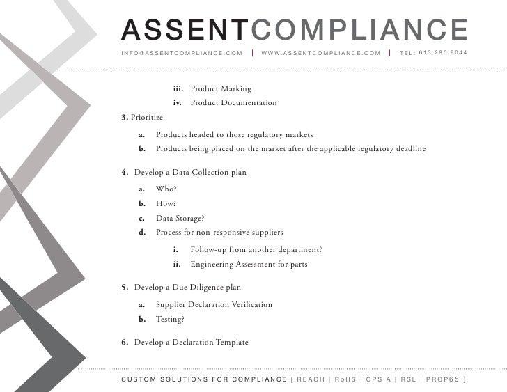 Material Declarations For Any Environmental Regulation