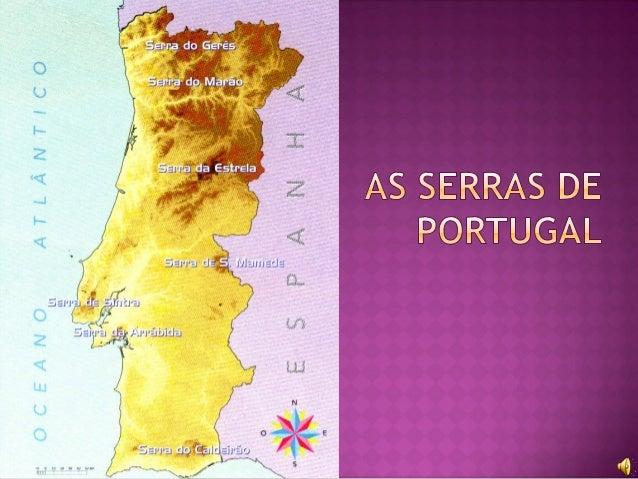 serras de portugal continental mapa As serras de portugal serras de portugal continental mapa