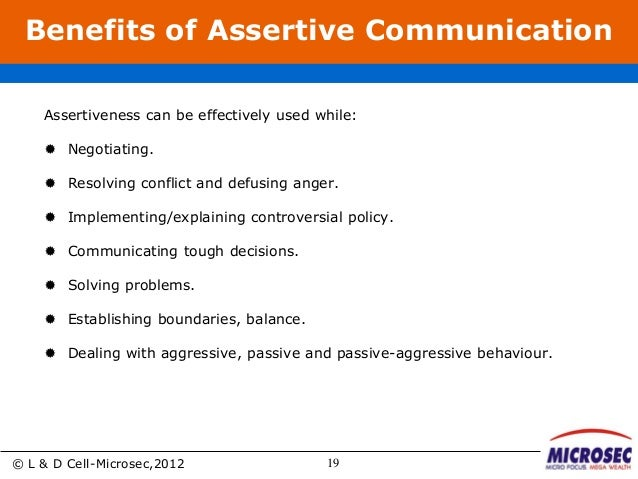 Examples of passive aggressive and assertive communication