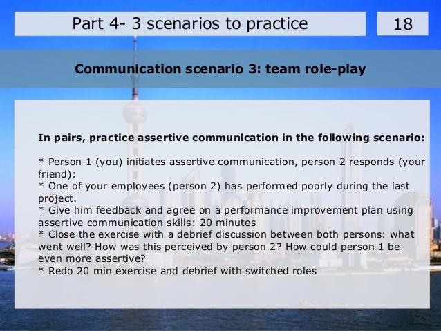 Communications scenario
