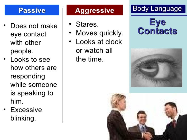 Bodylanguage and assertiveness Paper