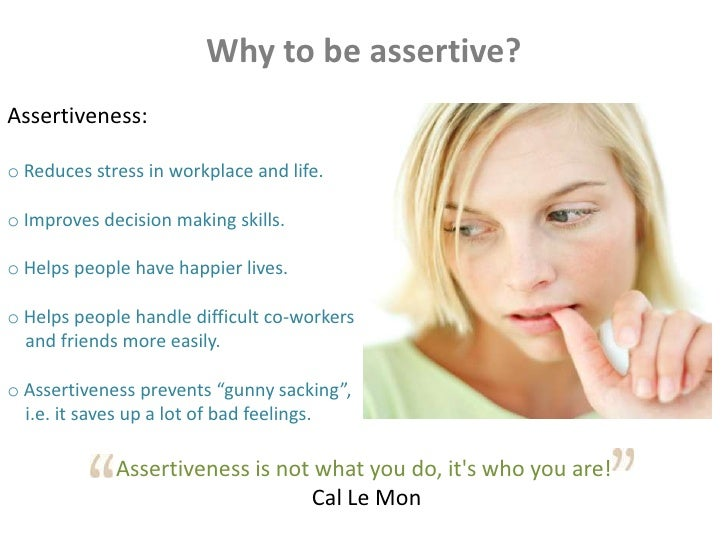 Non assertive behavior definition