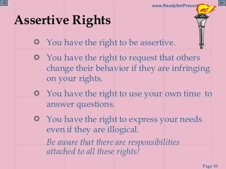 ASSERTIVENESS POWERPOINT – Assertiveness Worksheets