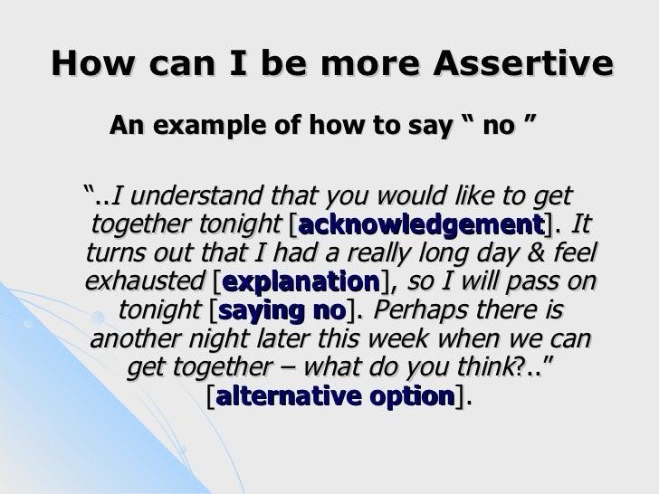 Assertive communication examples pdf