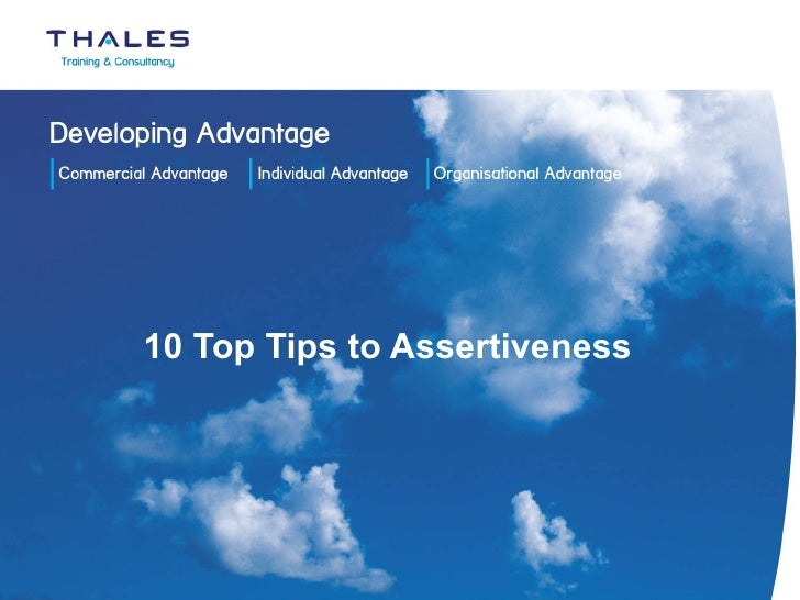 10 Top Tips to Assertiveness
