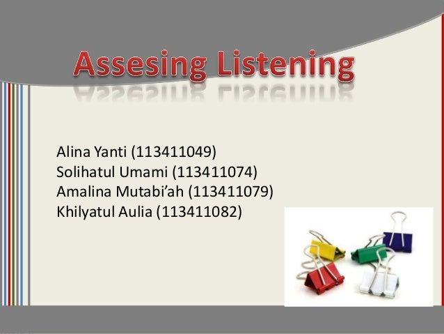 Alina Yanti (113411049)Solihatul Umami (113411074)Amalina Mutabi'ah (113411079)Khilyatul Aulia (113411082)