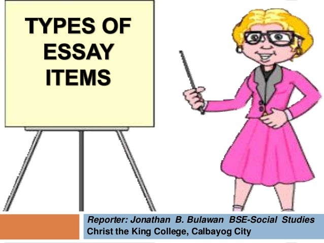 constructing essay items