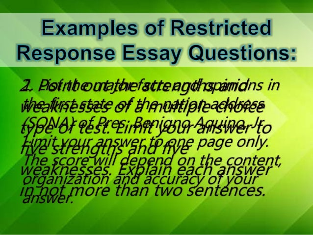 list and explain four types of essay